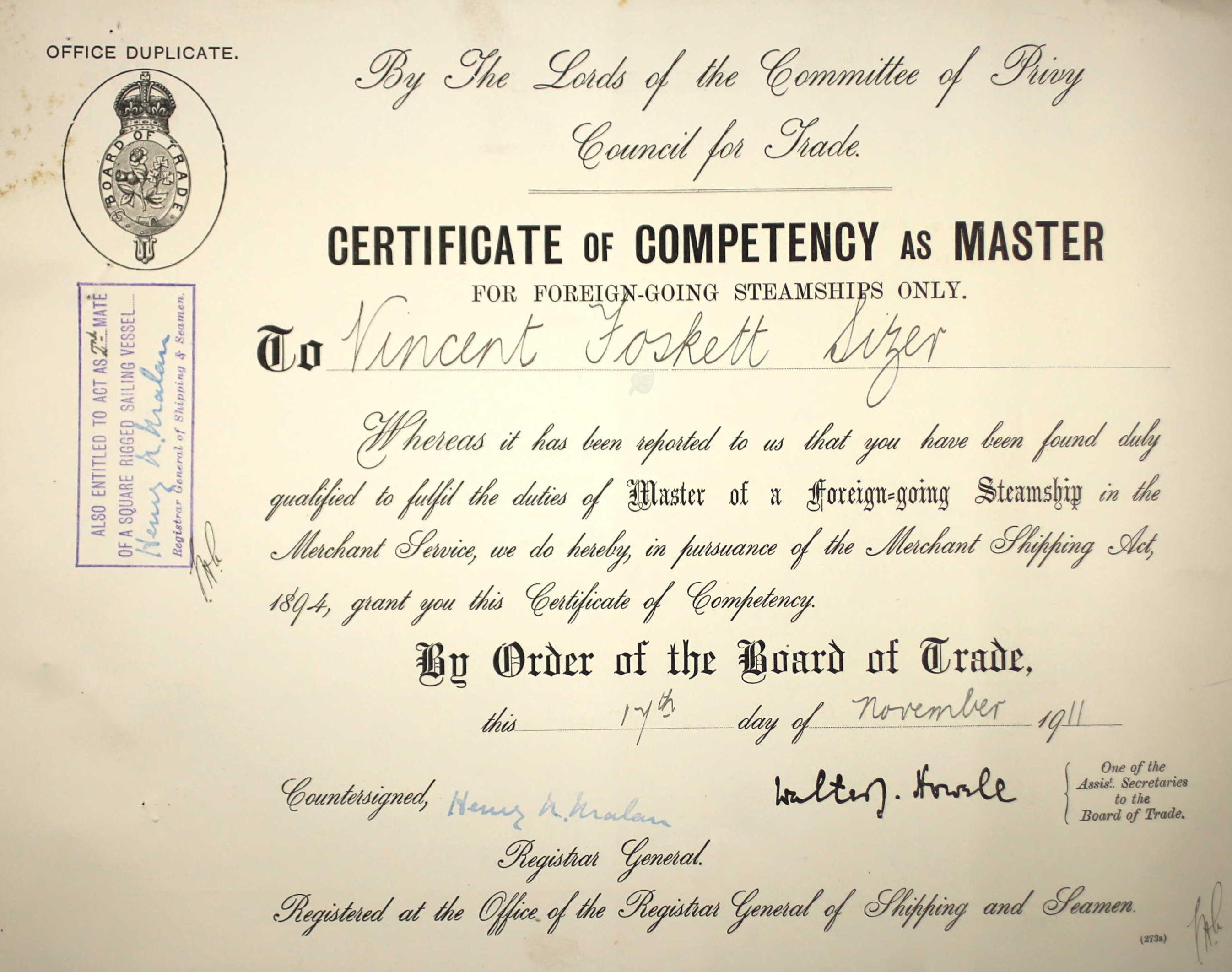 certificate template of petency elegant of employment sle best